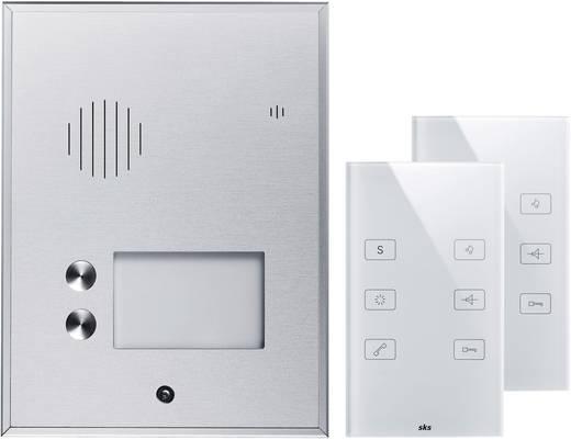2 familien t rsprechanlage il vetro audio alu glas wei. Black Bedroom Furniture Sets. Home Design Ideas
