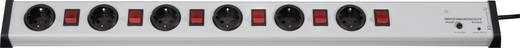 Überspannungsschutz-Steckdosenleiste 6fach Grau Schutzkontakt Ehmann 0232x00062301