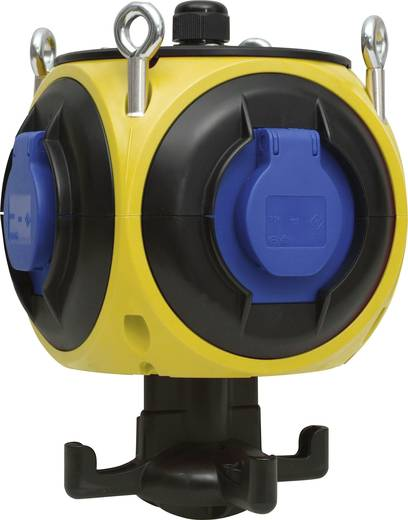 4fach Steckdosen-Verteiler 959.007 Gelb, Schwarz, Blau