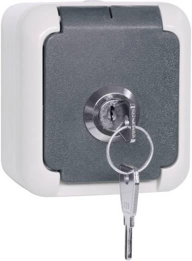 Aufputz-Steckdose abschließbar, gleichschließend IP44 Grau 102 337