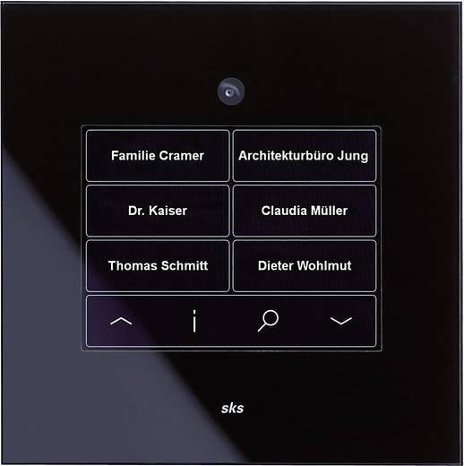 Video-Türsprechanlage Kabelgebunden Komplett-Set 1 Familienhaus Schwarz, Weiß