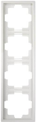GAO 4fach Rahmen Starline Weiß 3518