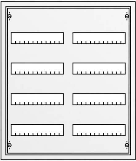 Verteilerschrank Aufputz Anzahl Teilungen = 96 Anzahl Reihen = 4 Striebel & John 30122 AT42