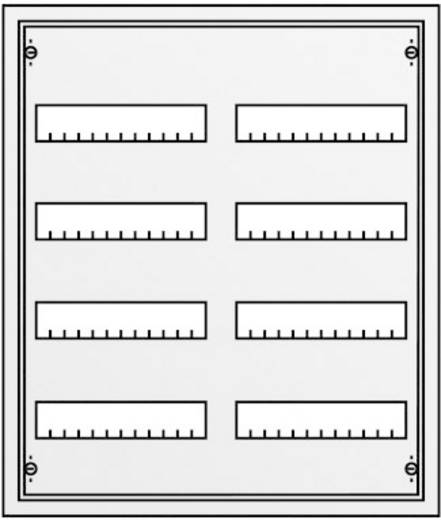 Unterputz Anzahl Teilungen = 96 Anzahl Reihen = 4 Striebel & John 30102 U42