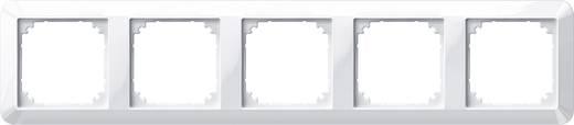 Merten 5fach Rahmen 1-M, System M Polarweiß glänzend 389519