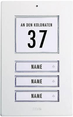 Zvonková deska M-e GmbH KT 3-AW, 3 tlačítka, max. 12 V/1 A , bílý hliník
