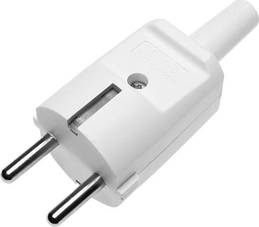 Schutzkontaktstecker PVC 230 V Weiß IP20 GAO