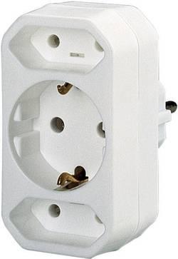 Zásuvková rozbočka GAO 0137, 3 zásuvky, bílá