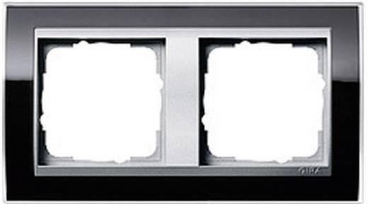 gira 2fach rahmen event klar standard 55 system 55 schwarz 0212 736. Black Bedroom Furniture Sets. Home Design Ideas