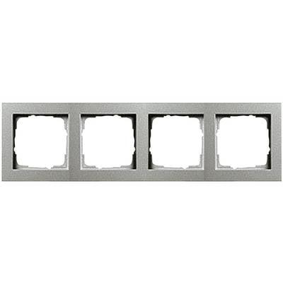 gira 4fach rahmen e2 standard 55 system 55 aluminium. Black Bedroom Furniture Sets. Home Design Ideas