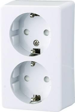 Zásuvka na omítku GAO Prolux 0305, 2násobná, polární bílá