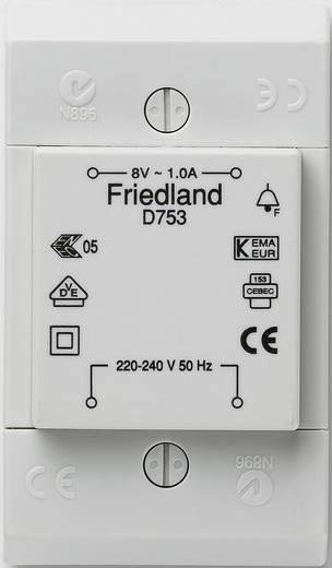 klingel transformator 8 v ac 1 a friedland d753. Black Bedroom Furniture Sets. Home Design Ideas
