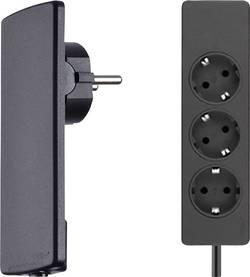 Zásuvková lišta Schulte Elektrotechnik, 3 zásuvky, černá