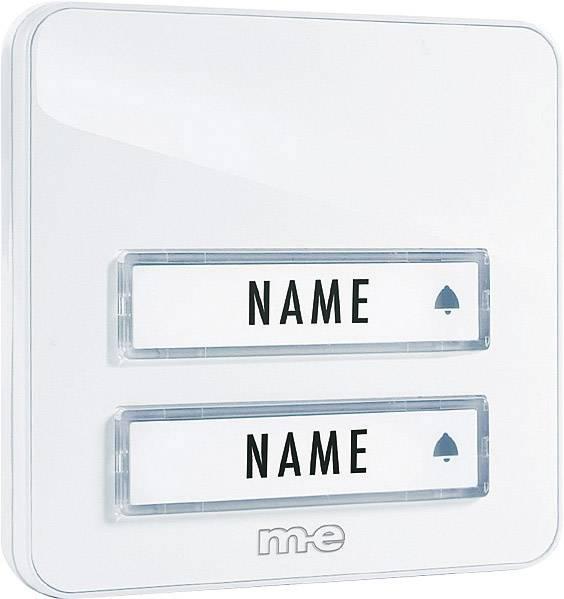 Neu Klingelplatte mit Namensschild 2fach m-e modern-electronics KTA-2  KM02