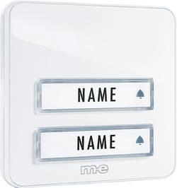 Zvonková deska M-e KTA-2 W, 2 tlačítka, max. 12 V/1 A,bílá