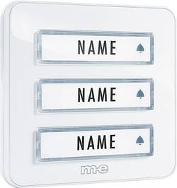 Plaque de sonnette 3 prises m-e modern-electronics KTA-3 W blanc 12 V/1 A