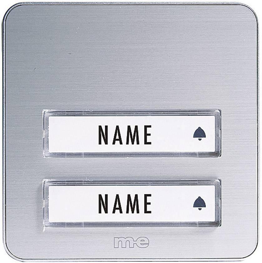 Neu Klingeltaster beleuchtet, mit Namensschild 2fach m-e modern  KM02