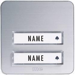 Zvonková deska M-e KTA-2 A/S, 2 tlačítka, max. 12 V/1 A, stříbrná