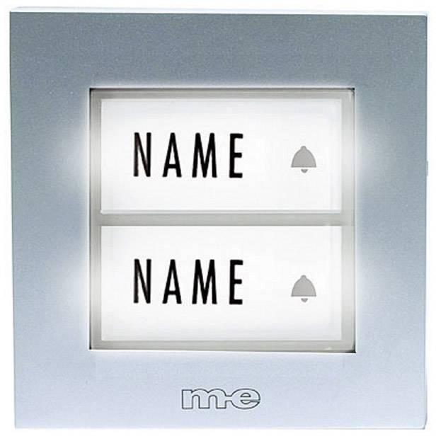 Innovativ Klingeltaster beleuchtet, mit Namensschild 2fach m-e modern  VU05