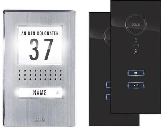 Türsprechanlage Kabelgebunden Komplett-Set m-e modern-electronics ADV 112 SS 1 Familienhaus Edelstahl, Schwarz