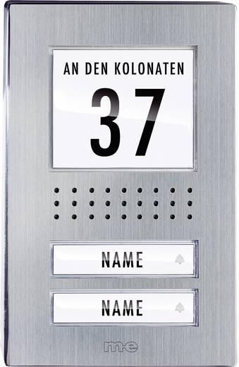 Türsprechanlage Kabelgebunden Außeneinheit m-e modern-electronics ADV-120.1 EG 2 Familienhaus Edelstahl