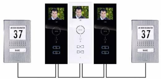 Video-Türsprechanlage Kabelgebunden Außeneinheit m-e modern-electronics VDV 510.1 EG 1 Familienhaus Edelstahl