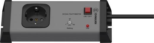 Steckdosenleiste mit Schaltuhr 1fach Grau, Anthrazit Schutzkontakt Ehmann 0217x00012a01