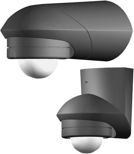Aufputz PIR-Bewegungsmelder Grothe 94534 240 ° Relais Schwarz IP55