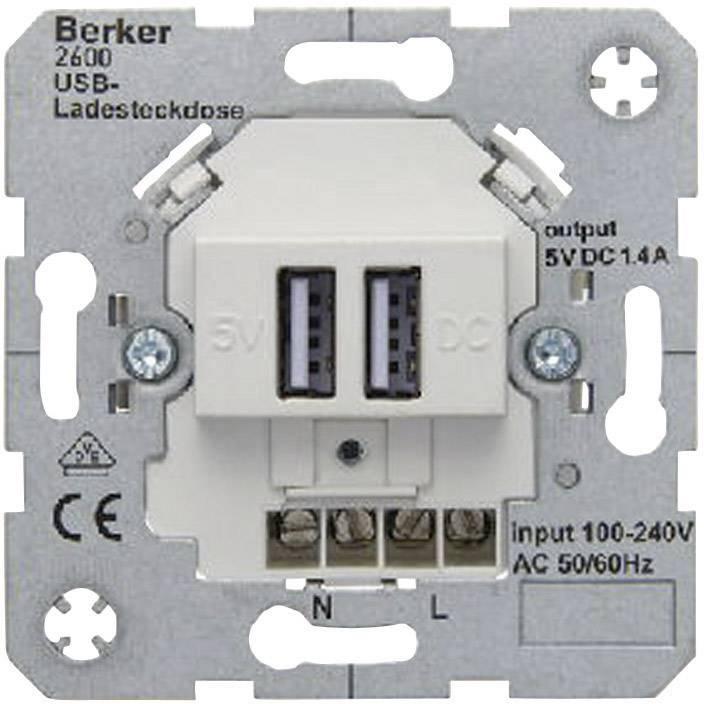 Hervorragend Berker Einsatz USB-Steckdose B.7, B.3, B.1, Modul 2, Q.1, K.5, K.1  DF84