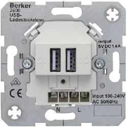 Image of Berker Einsatz USB-Steckdose B.7, B.3, B.1, Modul 2, Q.1, K.5, K.1, ARSYS Polarweiß 2600 09