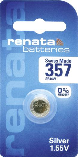 Knopfzelle 357 Silberoxid Renata SR44 Compatible courant fort 160 mAh 1.55 V 1 St.