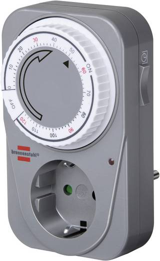 Steckdosen-Timer analog Tagesprogramm 1 bis 120 min Brennenstuhl Countdown Timer 3680 W IP20
