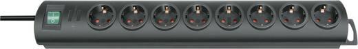 Steckdosenleiste mit Schalter 8fach Schwarz Schutzkontakt Brennenstuhl 1153300128