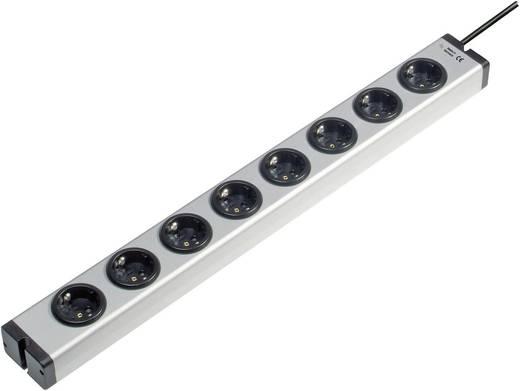 Ehmann 0600x00082031 Steckdosenleiste ohne Schalter 8fach Aluminium Schutzkontakt