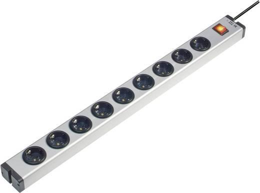 Steckdosenleiste mit Schalter 9fach Aluminium Schutzkontakt Ehmann 0601x00092031