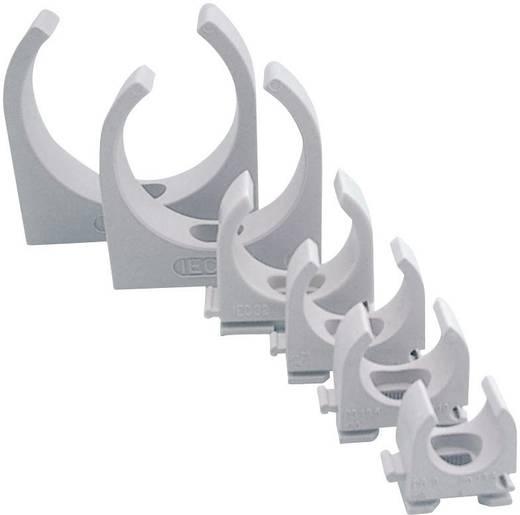 Klemmschelle EN16 16 mm 613514 Hell-Grau (RAL 7035) 100 St. Halogenfrei, Silikonfrei