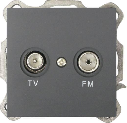 GAO Abdeckung TV-, Radio-Steckdose Modul Schwarz EFP800TR cover