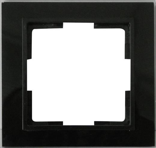 GAO 1fach Rahmen Modul Glas Schwarz EFV001-B