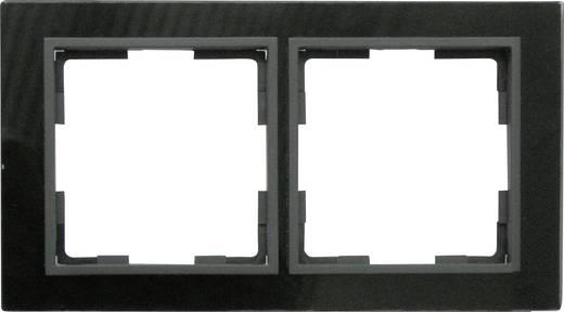 GAO 2fach Rahmen Modul Glas Schwarz EFV002-B