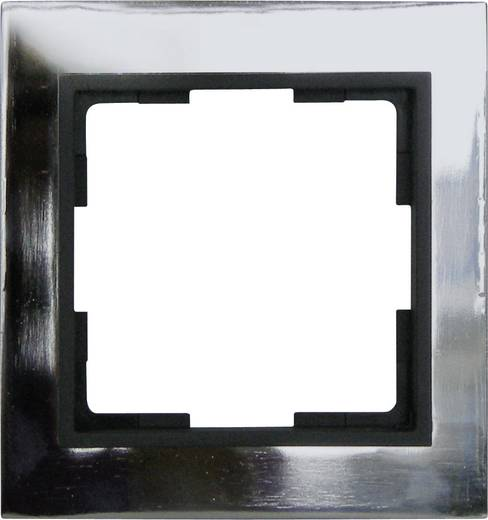 GAO 1fach Rahmen Modul Edelstahl (glänzend) EFV001-D