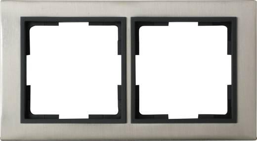GAO 2fach Rahmen Modul Edelstahl (gebürstet) EFV002-C
