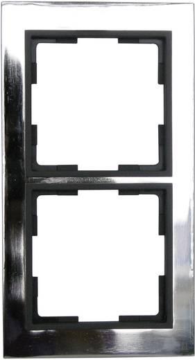 GAO 2fach Rahmen Modul Edelstahl (glänzend) EFV002-D