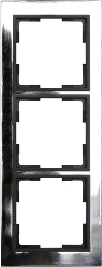 GAO 3fach Rahmen Modul Edelstahl (glänzend) EFV003-D