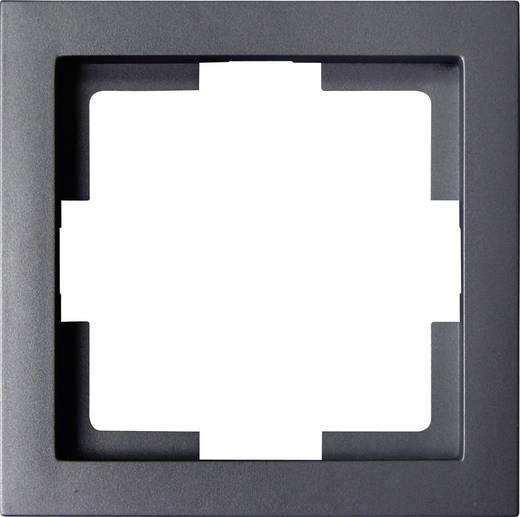 GAO 1fach Rahmen Modul Schwarz EFT001black