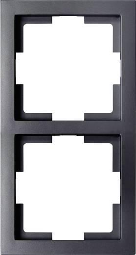 GAO 2fach Rahmen Modul Schwarz EFT002black