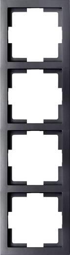 GAO 4fach Rahmen Modul Schwarz EFT004black