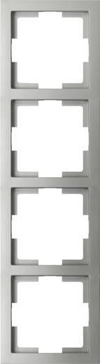 GAO 4fach Rahmen Modul Silber EFT004silver