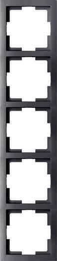 GAO 5fach Rahmen Modul Schwarz EFT005black