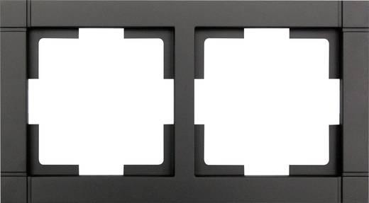 GAO 2fach Rahmen Modul Schwarz EFQ002black
