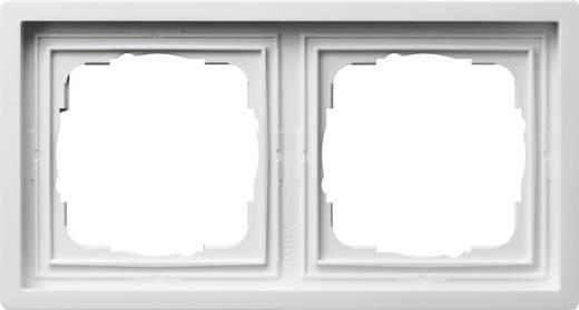 GIRA 2fach Rahmen Flächenschalter Weiß 0212112
